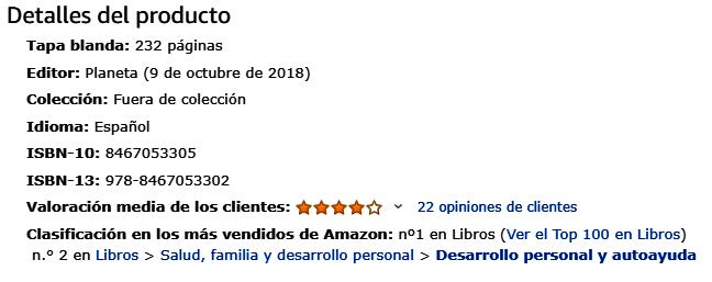 El libro más vendido del momento en Amazon