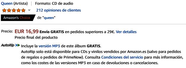 Los productos más vendidos en Amazon - Música