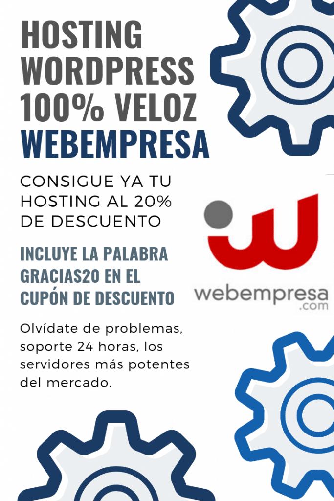 Webempresa Descuento 20% - Consultor seo