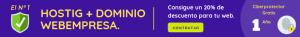 Descuento 20% en Hosting + Dominio Webempresa
