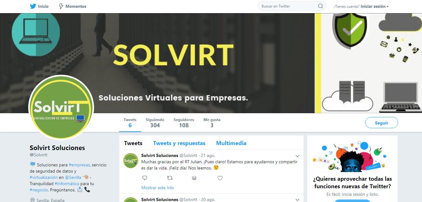 Twitter de Solvirt. La Web Digital 3.0