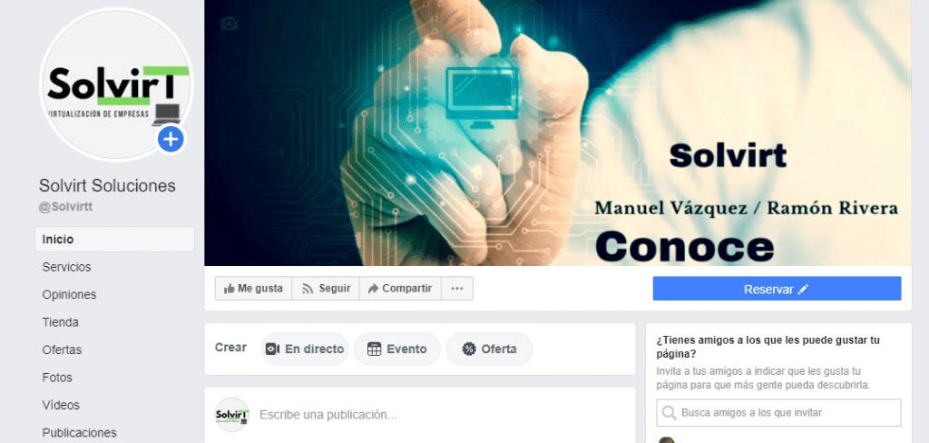 Perfil Social de solvit - facebook .