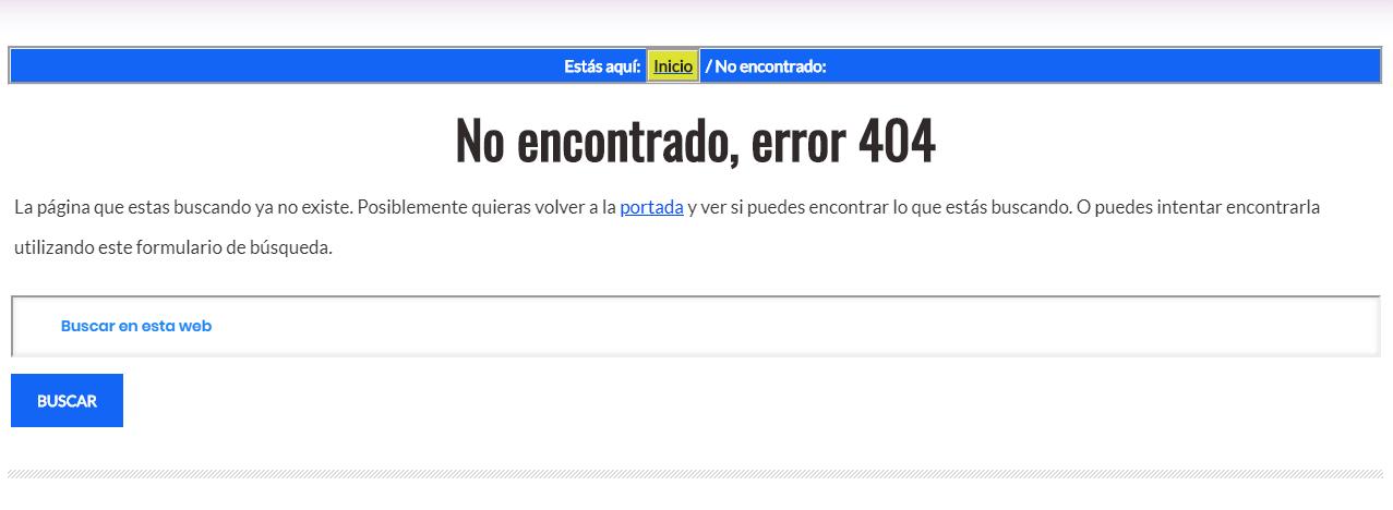 Soluciona el Error 404 - Error 404 y SEO.