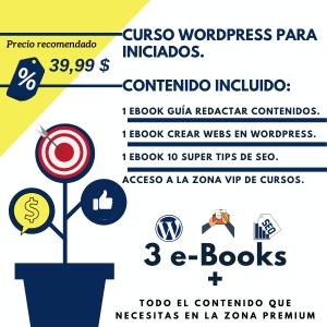 Curso Wordpress, SEO y Redacción de contenidos.
