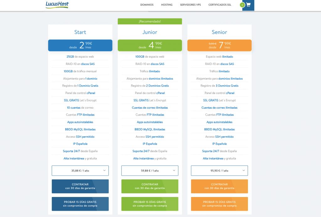 Contratar dominio y hosting barato