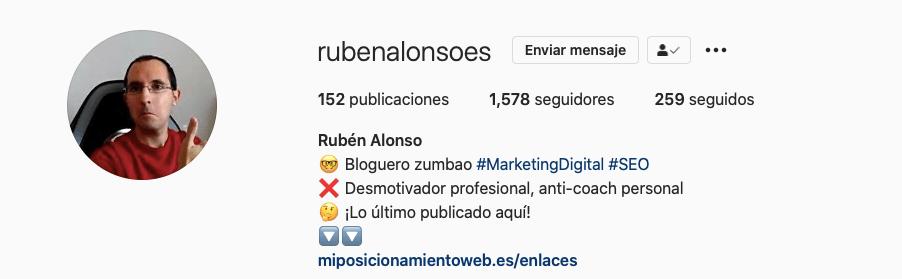 Marca Personal - Rubén Alonso y miposicionamientoweb.com
