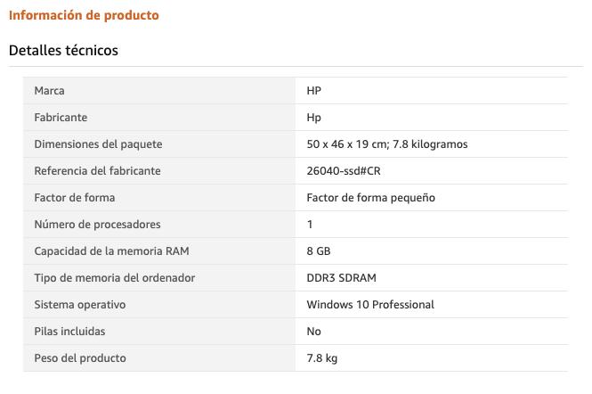 Comprar ordenadores de sobremesa baratos