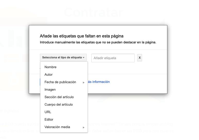 Marcado de datos estructurados en Search Console